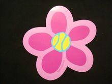Tennis Flower Car Magnet!