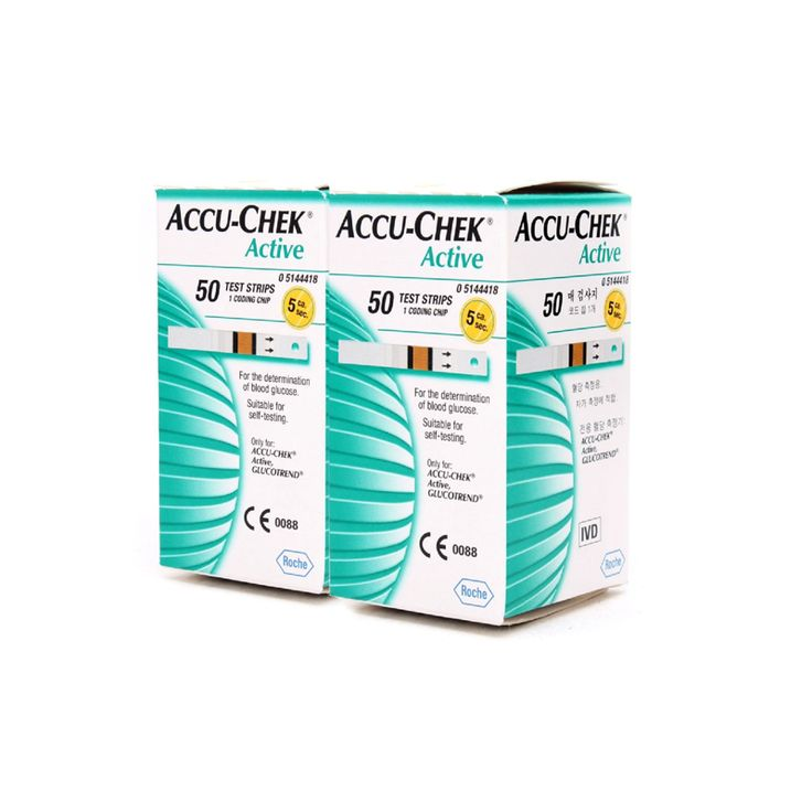 [ACCU-CHEK] Active 50 Test Strips x 2(Box) = 100ea Blood Glucose Factory Sealed