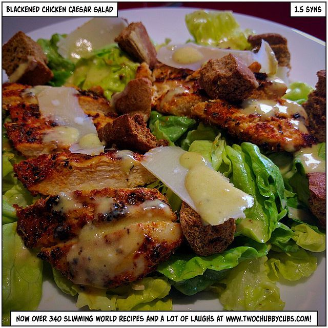 blackened chicken caesar salad | two chubby cubs | Bloglovin'