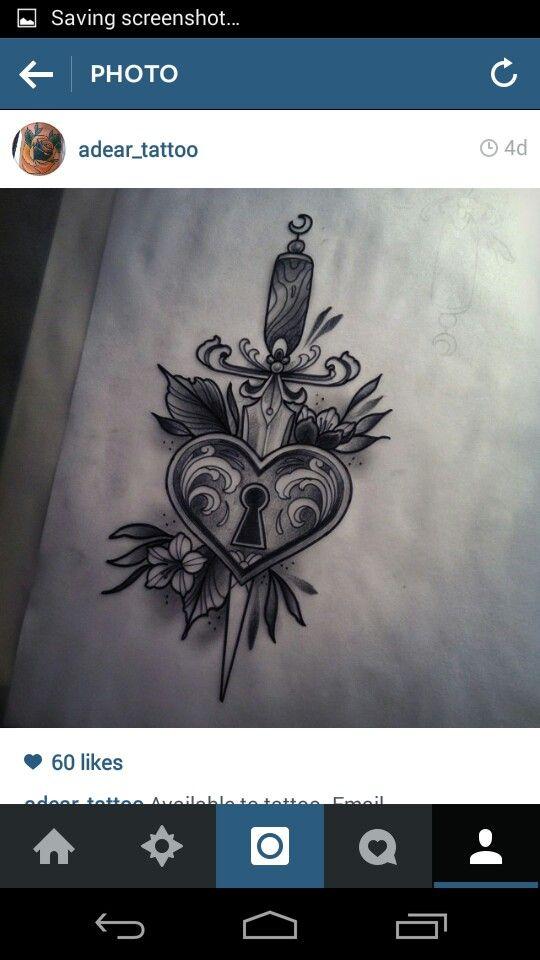 Dagger heart lock