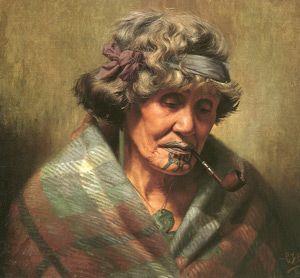Ina Te Papatahi  by Charles F Goldie