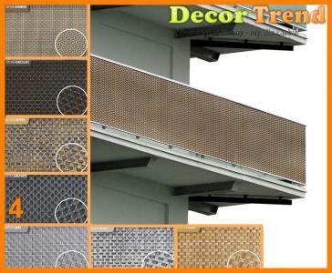 Osłona balkonowa technorattan 1500gm2 GRAFIT h1,2m