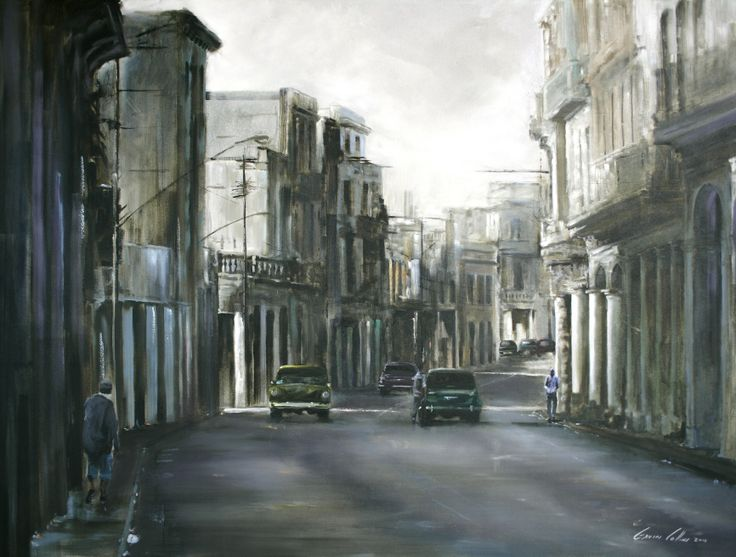 Gavin Collins Sunday morning Old Havana Oil on canvas