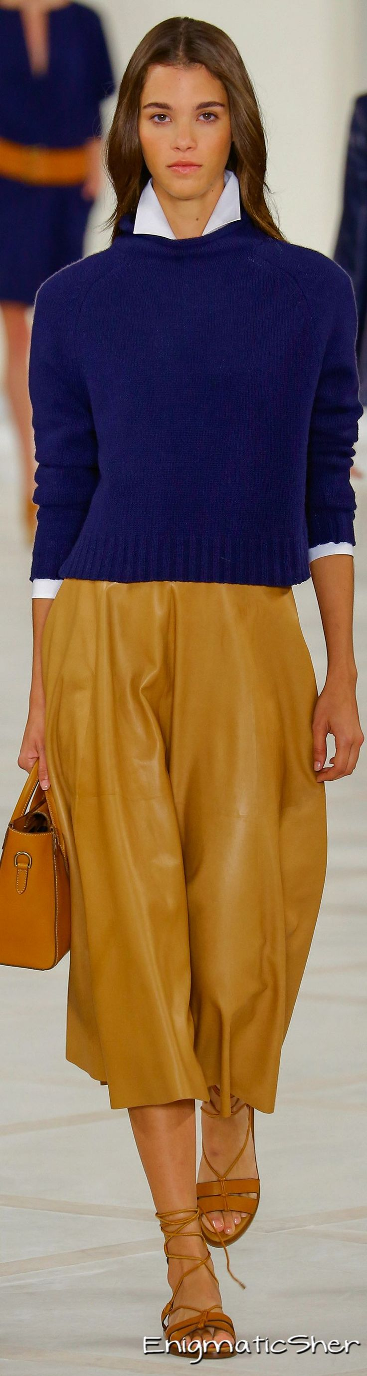 Ralph Lauren Spring 2016 Ready-to-Wear. These colors together = yes ... #WITCHERYSTYLE @witcheryfashion