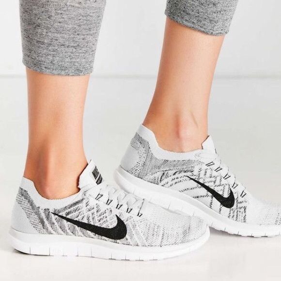 """Nike Free 4.0 Flyknit """"Pure Platinum"""" Women's Nike Free Flyknit 4.0 model features Flyknit material on the upper for plenty of breathabilty on the run. Plus, flywire cables also comes to play, helping reduce bulk even further for a speedy feels as you rack up the miles.   Women's size 9.5   NEW in box (no lid) Nike Shoes Sneakers"""