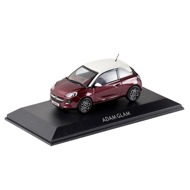 """So cute! The ADAM Glam in """"Berry Red"""" http://www.opel-collection.com/Model-Cars/Opel-ADAM-GLAM-1-43-Purple-Fiction::42.html"""