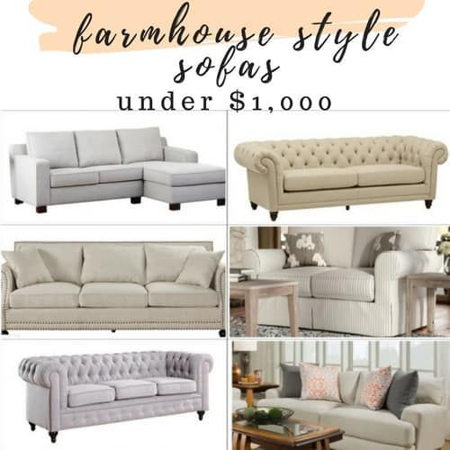 Affordable Farmhouse Style Sofa\'s and Sectionals for Under ...