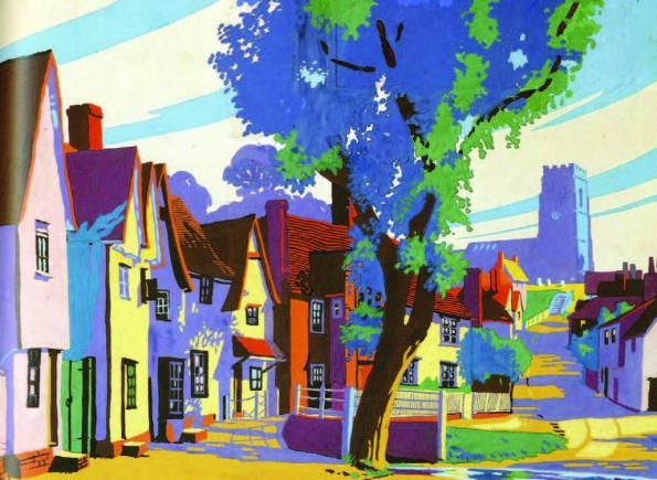 The Villages of England / Brian Cook  You could never say it's a dull day living in a place like that!