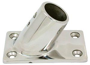 En oferta Base Rectangular Inox Fundición Inclinada 60° Tubo 25 mm