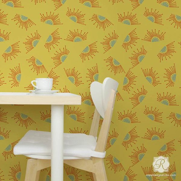 The 100+ best Living + Dining Room Stenciling images on Pinterest ...