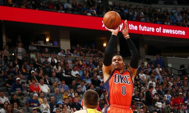 Thunder: Russell Westbrook nails game-winning 3-pointer in 50-point triple-double triumph over Denver
