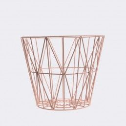 ferm LIVING Wire Basket Rose ---