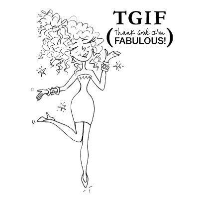 Thank God I'm Fabulous (Digi Stamp)