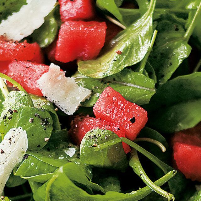 Olive Oil and lemon dressing with Watermelon & Arugula Salad - Barefoot Contessa