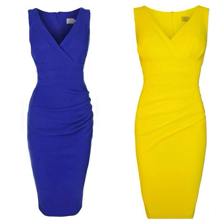Coloured fitted dresses