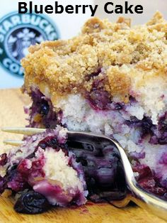 Delicious.and.Beautiful.Blueberry.Cake... a healthier version! #best recipe to…