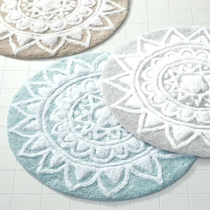Awesome Large Round Bathroom Rugs Arts