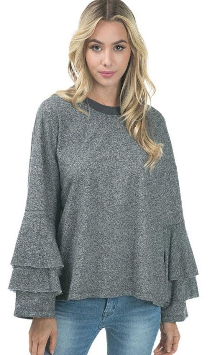 Sherlock Ruffle Sleeve Pullover