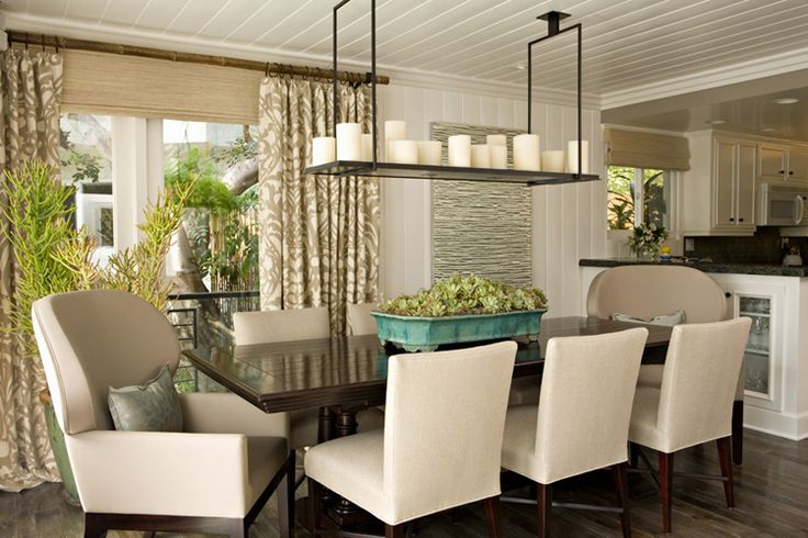 i love this modern take on a dinning room light fixture- very Restoration Hardware