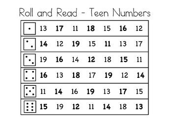 Those teen numbers can be tricky! Roll and read is a great way to build fluency and number recognition with those teen numbers and improve understanding of place value.This roll and record can be played individually or with a partner to reinforce number sense with your students!