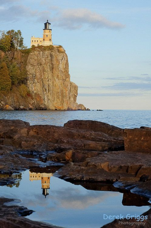 Split Rock Lighthouse, Minnesota. It's located on the Northern shore of Lake Superior where the water is deep and cold and big. - by Derek Griggs