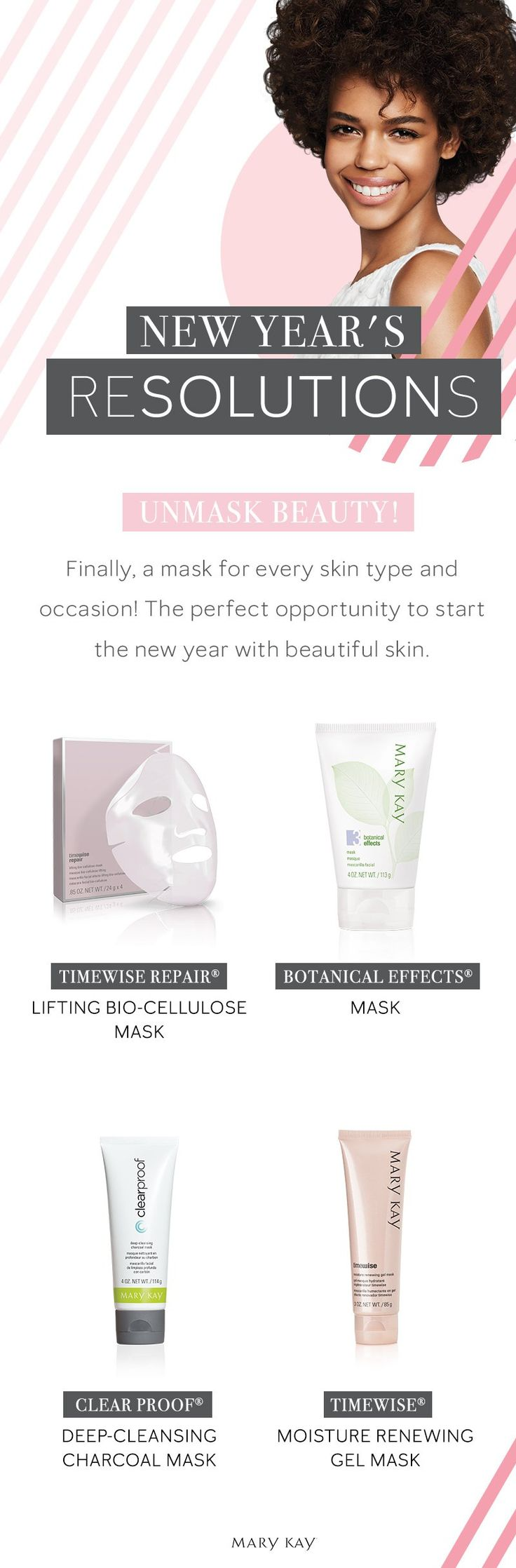 Resolutions meet our skin care solutions! Uncover beautiful skin with masks for every skin type. | Mary Kay