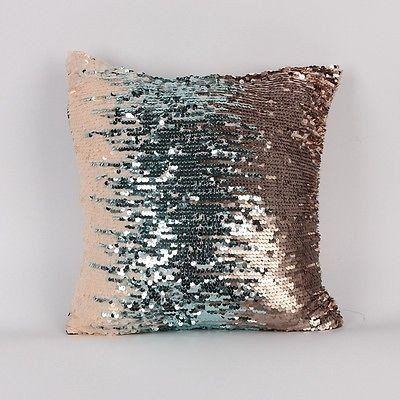 Mermaid Sequin Pillow Case Glitter Home Decormermaid