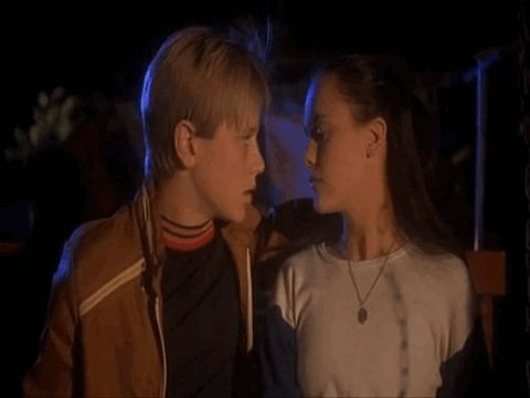 "When Devon Sawa kisses Christina Ricci in ""Now and Then."" 