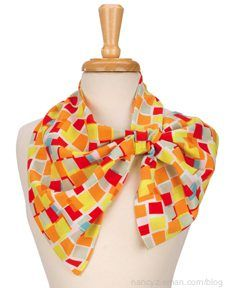 """In all, 20 scarf ideas are featured in the book and """"Sewing With Nancy"""" TV series, Sew Amazing Scarves. Featured is the Loop and Tuck Scarf."""