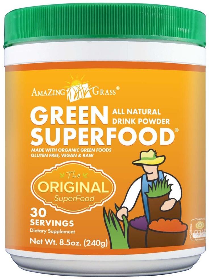 Amazing Grass Green SuperFood Powder. #glutenfree