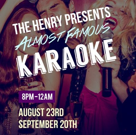 """Big Flippin' Karaoke Night At The Henry! Almost Famous Entertainment presents – Karaoke Night at none other than Cloverdale's The Henry Public House!! According to The Urban Dictionary, Karaoke is: Singing without a live orchestra or band. Originally meaning """"withoutorchestra,"""" it is a combination of Japanese """"kara"""" meaning """"empty/bare-handed"""" as in """"karate"""", and the """"okee"""" sound from the first syllable of """"orchestra"""" as pronounced by Japanese."""