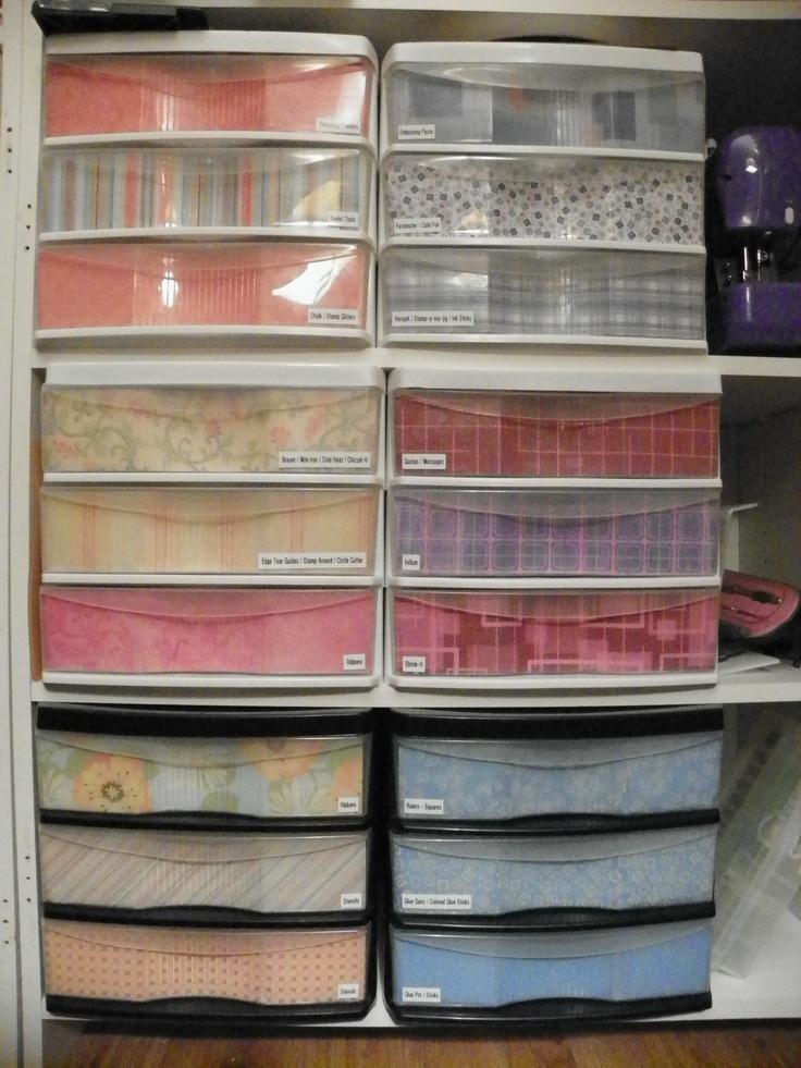 Decorative Paper Inside Plastic Storage Drawers