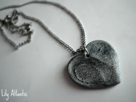 Finally found the DIY thumbprint heart necklace