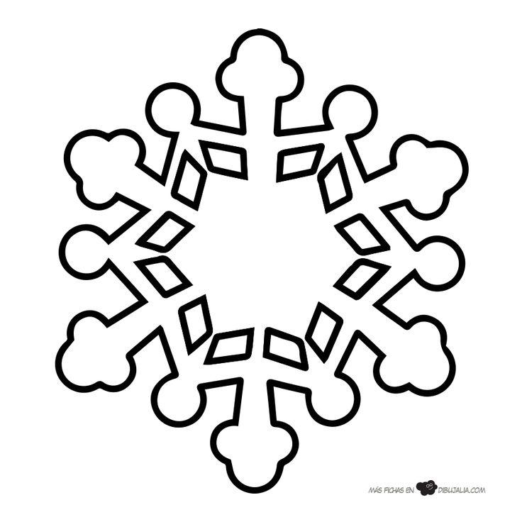 Más de 25 ideas increíbles sobre Copo de nieve dibujo en