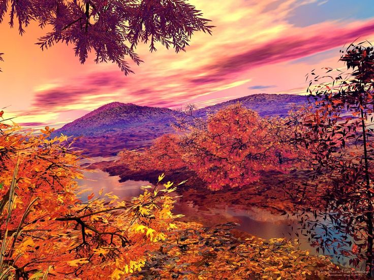 autumn landscape beautiful autumn landscape free
