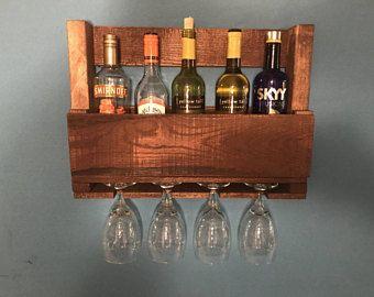 Pallet Wine Rack, Wine Rack, Wine Glass Holder, Rustic Pallet Wine Rack, Pallet Wine Holder, Wine Rack Shelf, Wood Pallet Wine Rack, Wine