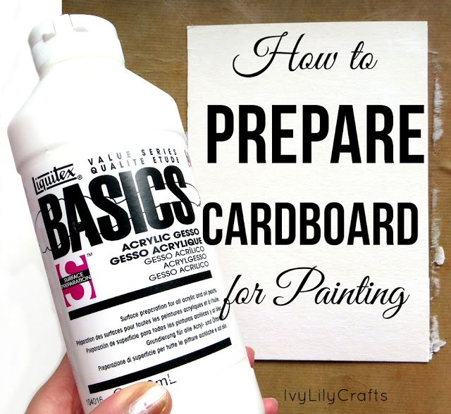 Would you like to paint on cardboard, but have noticed that the paint soaks into and you can't achieve bright colors? I'll show you how to prepare a piece of cardboard for painting with gesso primer.