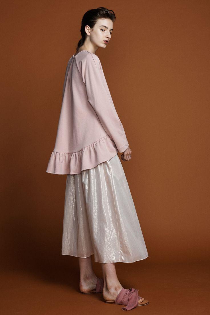 Pollyanna Sweater - Blush Matinee Skirt- Rose Gold