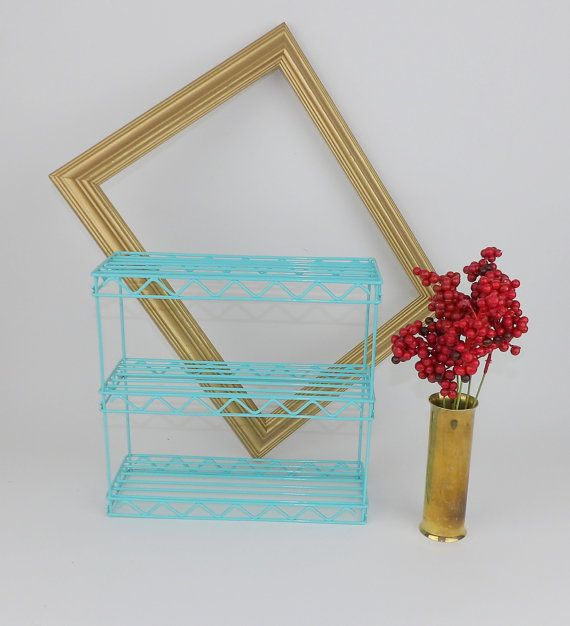 Today's most popular item. Still available. #furniture #design #interiordesign #interior #decor #home #vintage #homedecor #decoration #modern #furnituredesign #bedroom #designer #inspiration #shabbychic #ikea #midcentury #homedesign #retro #kitchen #industrial #interiordesigner #livingroom #interiors #turquoise #jewelry #fashion #beach #bohemian #nailart https://www.etsy.com/listing/486653798/metal-wire-shelf-hanging-aqua-blue