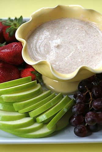 Just made this to dip in strawberries for a study snack. A great fruit dip and it only has 3 ingredients :)