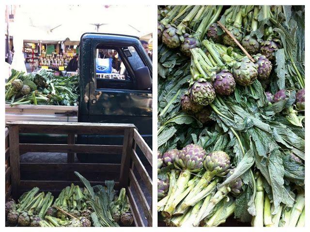 Elizabeth Minchilli in Rome: artichoke indulgence: artichokes for sale at Campo de' Fiori in Rome