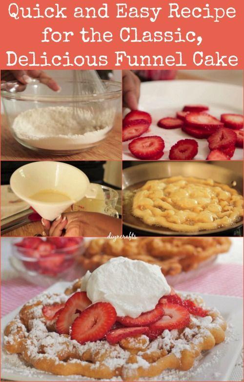 Snel en gemakkelijk Recept voor de Classic, Delicious Funnel Cake