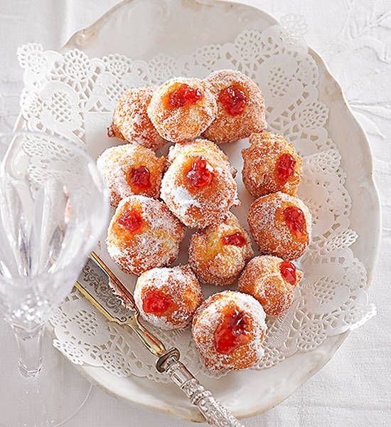 Little jam doughnuts: Nothing like a sweet jam doughnut to finish off your Christmas dinner with.