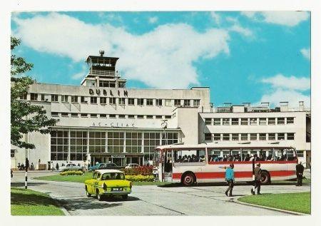 Dublin Airport in the 1960s - John Hinde postcard.  #Dublin #Ireland #Aviation #History #DublinAirport #Collinstown #AvGeek #Travel