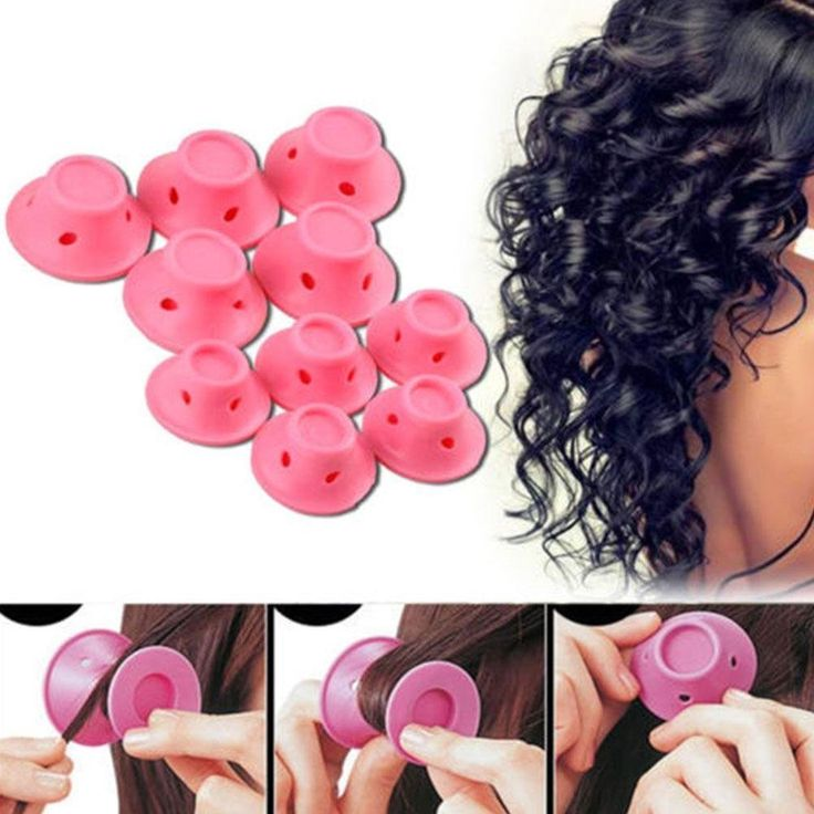 Gracefulvara 10pcs Silicone Hair Curler Magic Hair Rollers No Heat Hair Styling Tool *** You can find more details by visiting the image link. #hairgrowth
