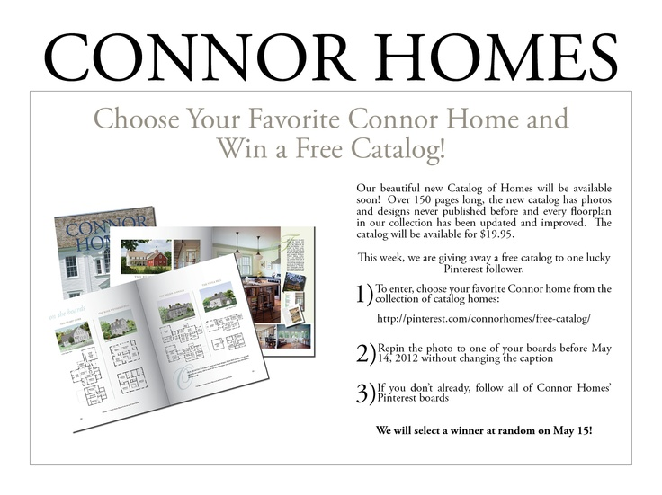 Contest Rules   Good luck. 59 best images about Catalog of Homes on Pinterest   14  Bearce