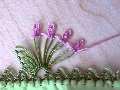 ▶ süpürge modeli iğne oyası - YouTube Hand Embroidery