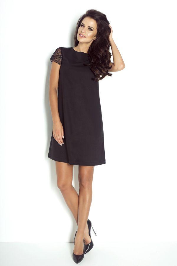 IVON Sukienka z koronkowym rękawem model 194 ivon-sklep.pl