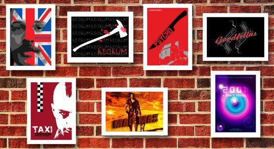 Alternative Movie Posters by Scar Design #movieposters #buymovieposters #buyposters #cinema #cinemagifts #wallart #homedecor #homedecorgifts #moviegifts #cinephile #cinephilegifts #movies #bestmovies #Psycho #theShining #Goodfellas #TaxiDriver #MadMax #Bronson #2001aSpaceOdyssey