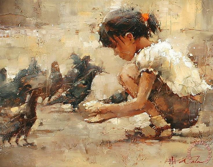 """A """"força"""" da tinta de óleo deste pintor russo sobre a tela realça o movimento ou as formas duma forma impressionista e figurati..."""